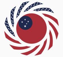 Samoan American Multinational Patriot Flag Series by Carbon-Fibre Media