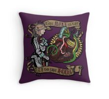 The Mind is the Key to the Heart (royal purple) Throw Pillow