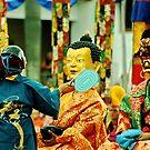 tsechu chaam, sacred dance. northern india by tim buckley   bodhiimages