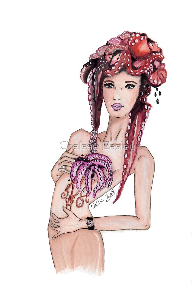 """""""Courtesy of BP"""" Fashion Illustration by Chelsea Easley"""