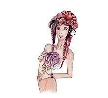 """Courtesy of BP"" Fashion Illustration Photographic Print"