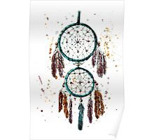 turquoise dreamcatcher Poster