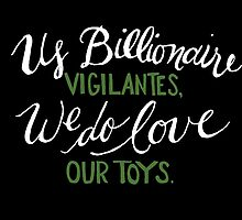 Billionaire Vigilantes - On Black by crystalliora
