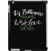 Billionaire Vigilantes - On Black iPad Case/Skin