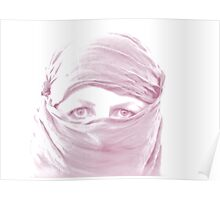 """Purple Pashmina"" (self portrait) Poster"