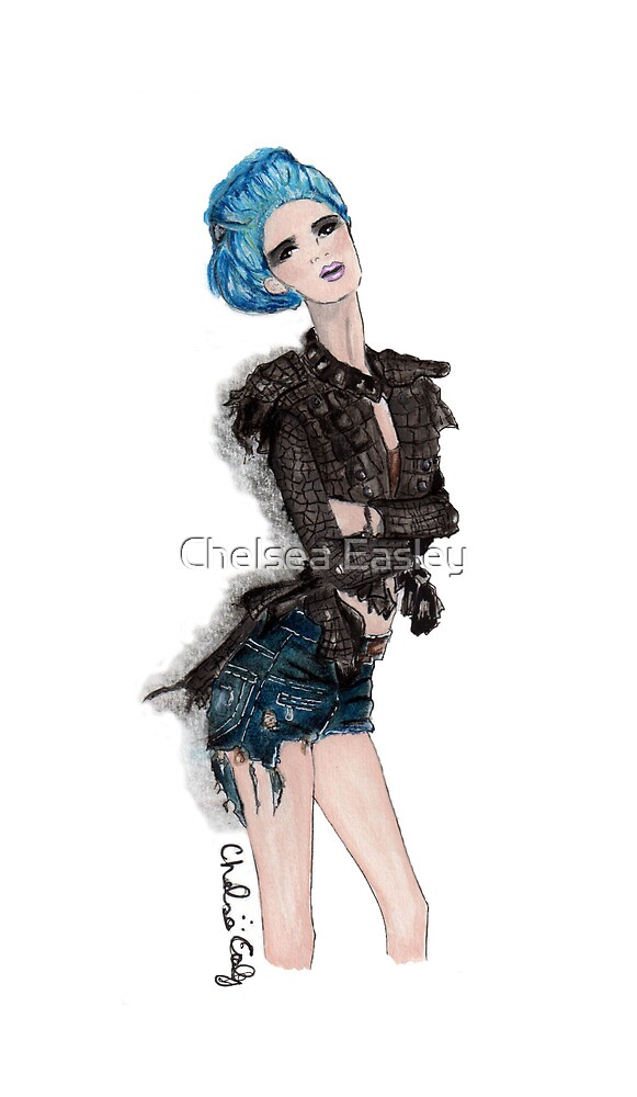"""""""Tres Jolie"""" Fashion Illustration by Chelsea Easley"""
