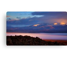 Palomino Valley Glow Fog Canvas Print