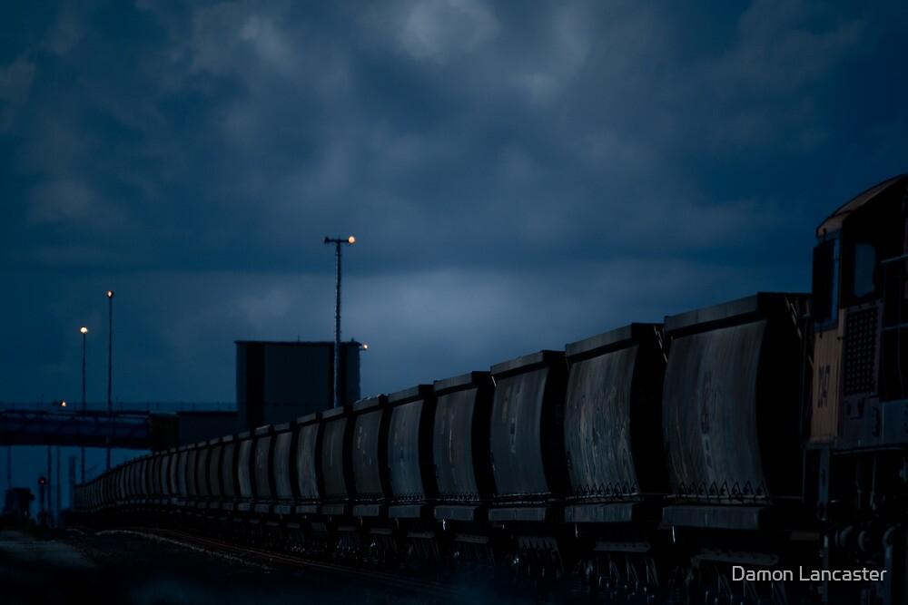 Coal train - Port of Brisbane by Damon Lancaster