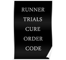 Maze Runner Titles Poster