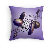 Mauve Bobbles Throw Pillow