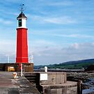 Watchet lighthouse in colour by Lissywitch
