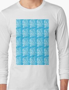 Can you See Two Faces Sketch by Mo Long Sleeve T-Shirt