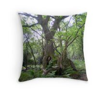 Tree sculpture by Mother Nature Throw Pillow