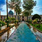 The Amazing Abbasi Hotel - Courtyard Fountains - Esfahan - Iran by Bryan Freeman