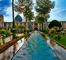 The Amazing Abbasi Hotel - Courtyard Fountains - Esfahan - Iran by Bryan Freeman