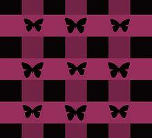 Plaid Butterflies by CarolM