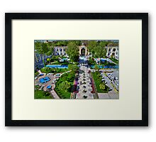 The Amazing Abbasi Hotel - Courtyard From Four Stories High  - Esfahan - Iran Framed Print