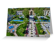 The Amazing Abbasi Hotel - Courtyard From Four Stories High  - Esfahan - Iran Greeting Card