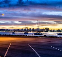 SAN DIEGO HARBOR FROM THE LOT by joseph s  giacalone