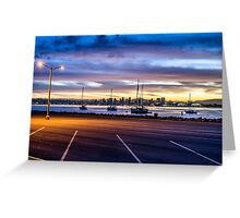 SAN DIEGO HARBOR FROM THE LOT Greeting Card