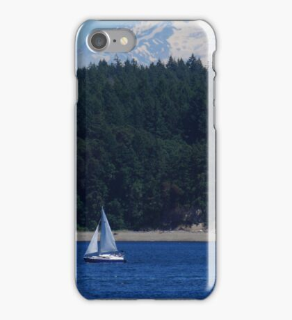 In the shadow of Mt. Rainer iPhone Case/Skin