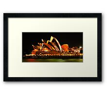Vivid Sydney #3- Sydney Opera House - The HDR Experience Framed Print
