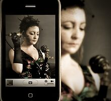 Me and my iphone by Heather Buckley