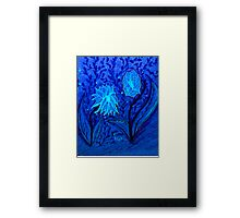 bLUE nIGHT gARDEN  Framed Print