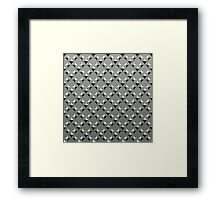 Diamonds - gray Framed Print