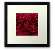 ken and wormmon Framed Print