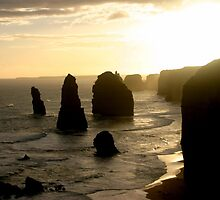 Sunsetting over the Twelve Apostles by Chris Chalk