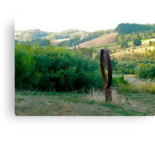 Wagon Wheels a-Turnin' Canvas Print