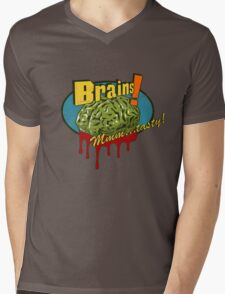 Brains. Mens V-Neck T-Shirt