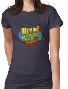Brains. Womens Fitted T-Shirt