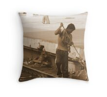 The track sweeper Throw Pillow