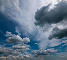 ditchling beacon sky by Heather Buckley
