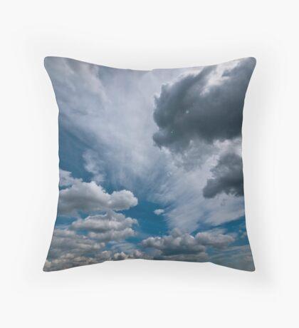 ditchling beacon sky Throw Pillow