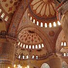 Inside the Blue Mosque by Maureen Clark