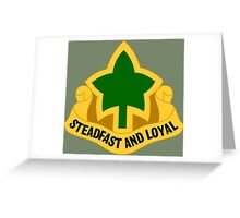 4th Infantry Division - Distinctive unit insignia (United States) Greeting Card