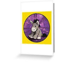 Donkey Plush (yellow) Greeting Card