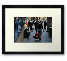 Red Jacket Framed Print