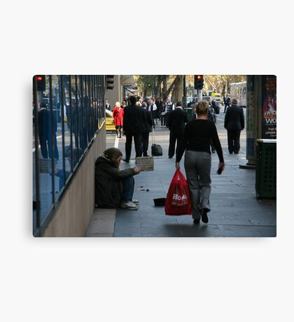 Red Jacket Canvas Print