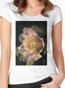 Brilliant Spring Sunshine - a Showy Pink Peony From My Garden Women's Fitted Scoop T-Shirt