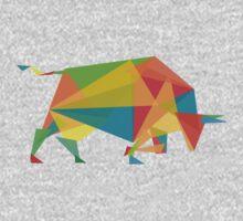 Fractal geometric bull Kids Clothes