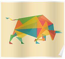 Fractal geometric bull Poster