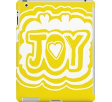 Joy Printmaking Word Art iPad Case/Skin