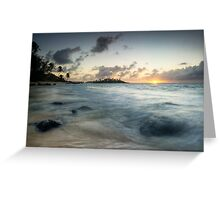 Cook Islands Sunrise Greeting Card