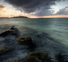 Muri Lagoon Sunrise Surprise by Michael Treloar