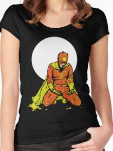 The Fallen Hero (Black T) Women's Fitted Scoop T-Shirt