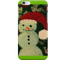 Shy Snowman with a Carrot Nose iPhone Case/Skin
